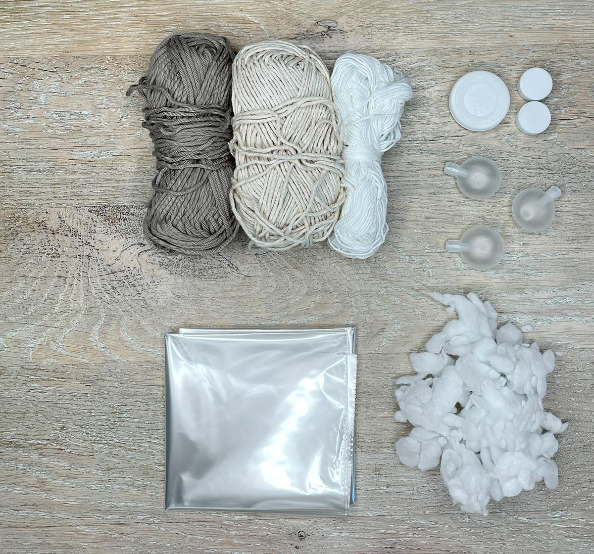 Materialer til Baby Lulu's boldebold
